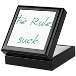 The Rules Suck Keepsake Box
