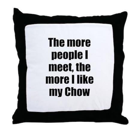 Chow Throw Pillow