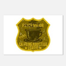 Psych Major Caffeine Addiction Postcards (Package