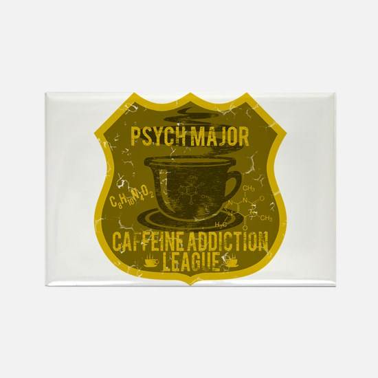Psych Major Caffeine Addiction Rectangle Magnet