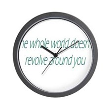 The Whole World Doesn't Revol Wall Clock