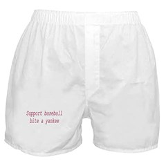 Support Baseball Bite A Yanke Boxer Shorts