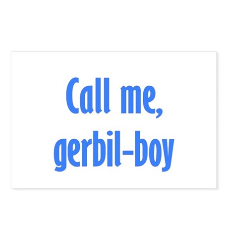 Call Me, Gerbil-Boy Postcards (Package of 8)