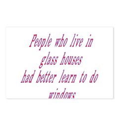 People In Glass Houses Had Be Postcards (Package o