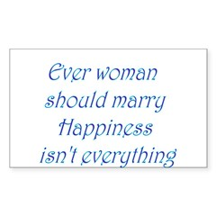 Every Woman Should Marry Happ Decal