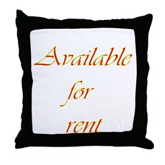 Available For Rent Throw Pillow