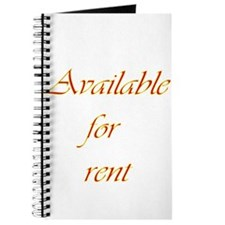 Available For Rent Journal