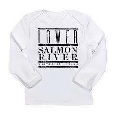 Lower Salmon River Long Sleeve Infant T-Shirt