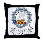 Gibson Clan Badge Throw Pillow