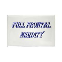 Full Frontal Nerdity Rectangle Magnet (10 pack)