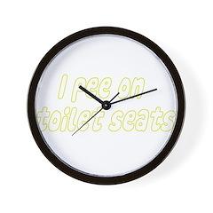 I Pee On ..... Wall Clock