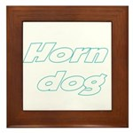 Horn Dog Framed Tile