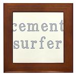 Cement Surfer Framed Tile