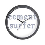 Cement Surfer Wall Clock
