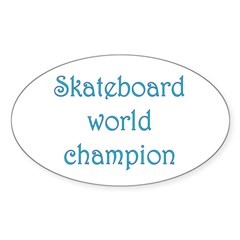 Skateboard World Champion Decal