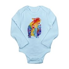 LOVE CAT Bright Colors Long Sleeve Infant Bodysuit