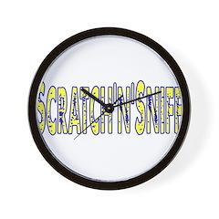 Scratch 'N' Sniff Wall Clock