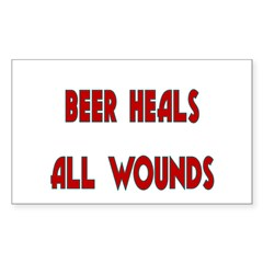 Beer Heals All Wounds Decal