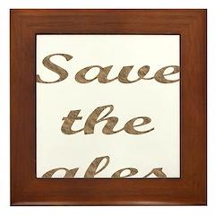 Save The Ales Framed Tile