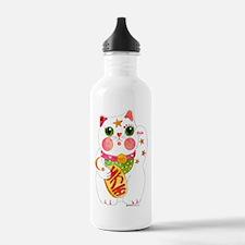 Lucky Beckoning Cat Water Bottle