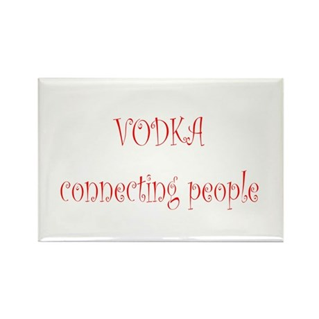 Vodka Connecting People Rectangle Magnet (10 pack)