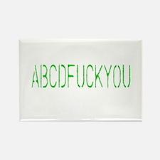 ABCDFUCKYOU Rectangle Magnet