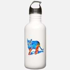 Whimsical Kitty Cat Gifts Water Bottle