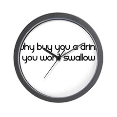 Why Buy You A Drink You Won't Wall Clock