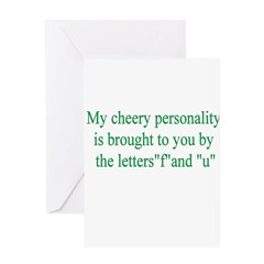 My Cherry Personality Is Brou Greeting Card