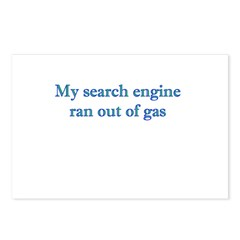 My Search Engine Ran Out Of G Postcards (Package o