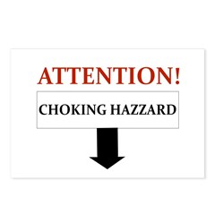 ATTENTION CHOKING HAZZARD Postcards (Package of 8)