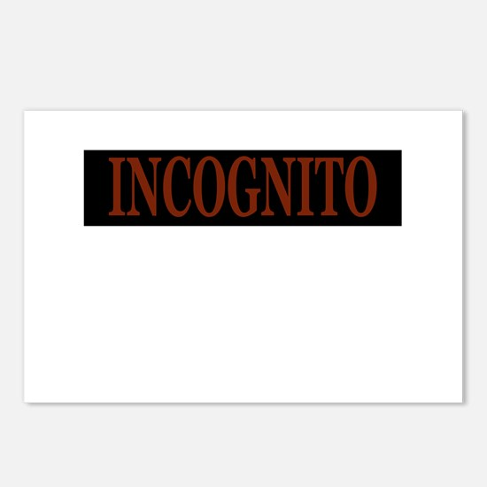 INCOGNITO Postcards (Package of 8)