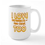 I LOVE WATERMELON AND FRIED C Large Mug
