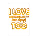 I LOVE WATERMELON AND FRIED C Mini Poster Print