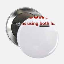 "GUN CONTROL MEANS USING BOTH 2.25"" Button (10 pack"