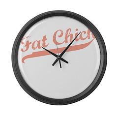 FAT CHICK Large Wall Clock
