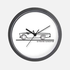 1956 Thunderbird Convertible Wall Clock