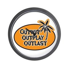 Outwit Outplay Outlast Wall Clock