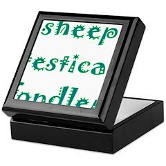 Sheep Testical Fondler Keepsake Box