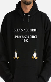 Geek since birth. Linux...1992 Hoodie (dark)