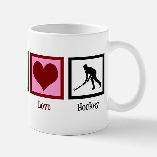 Peace Love Hockey Mug
