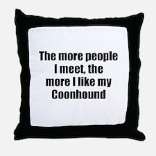 Coonhound Throw Pillow