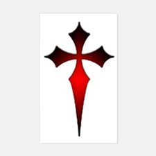 Gothic Fitchy Cross Rectangle Decal
