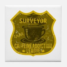Surveyor Caffeine Addiction Tile Coaster