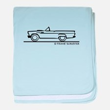 1957 T Bird Convertible baby blanket