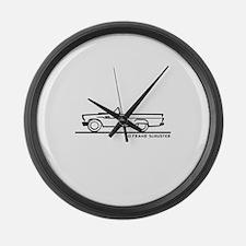 1957 T Bird Convertible Large Wall Clock