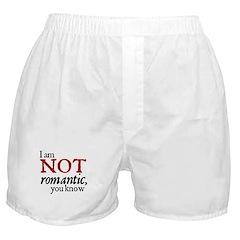 Jane Austen Not Romantic Boxer Shorts
