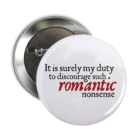 Jane Austen Romantic Nonsense Button