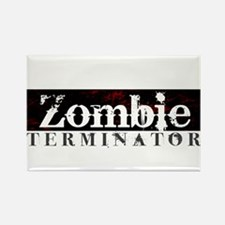 Zombie Terminator Rectangle Magnet