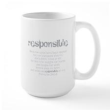Responsible (For Men) Mug